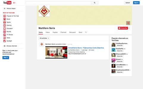 Screenshot of YouTube Page youtube.com - Martillero Serra  - YouTube - captured Oct. 23, 2014