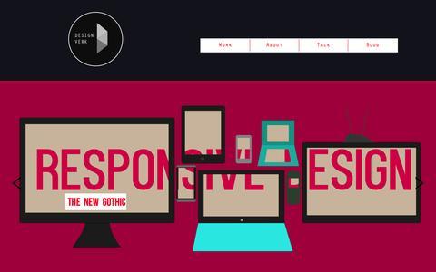 Screenshot of Home Page designverk.com - Designverk - captured Sept. 30, 2014