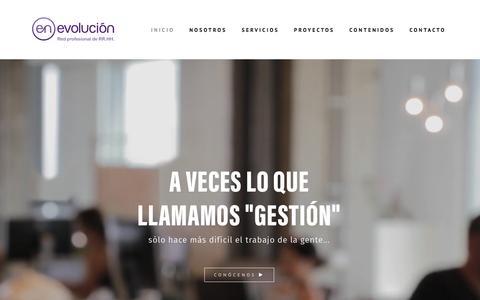 Screenshot of Home Page enevolucion.com - Inicio - enEvolución - captured July 14, 2016
