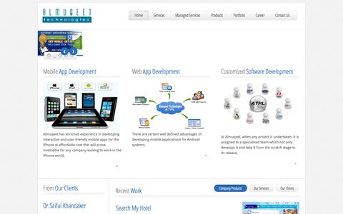 Screenshot of Home Page Site Map Page almuqeet.net - Almuqeet Technologies Pvt Ltd - | Mobile application development company | software development India | software company in Kashmir | web design India | SEO services company - captured Oct. 4, 2014