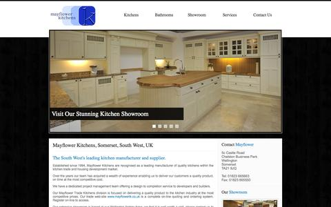 Screenshot of Site Map Page mayflower-kitchens-and-bathrooms.co.uk - Mayflower Kitchens, Somerset, South West, UK - Manufacturer and Supplier of Quality Kitchens - captured Oct. 27, 2014