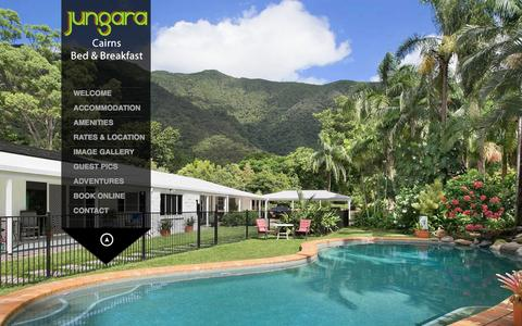 Screenshot of Home Page jungara.net.au - Cairns Bed and Breakfast – Cheap Accommodation – B&B Hotel - Redlynch - captured June 15, 2016