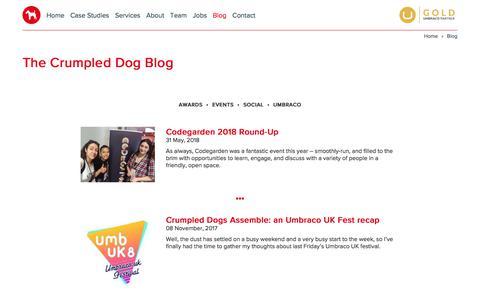 Screenshot of Blog crumpled-dog.com - Blog : Archive : Crumpled Dog - captured July 23, 2018