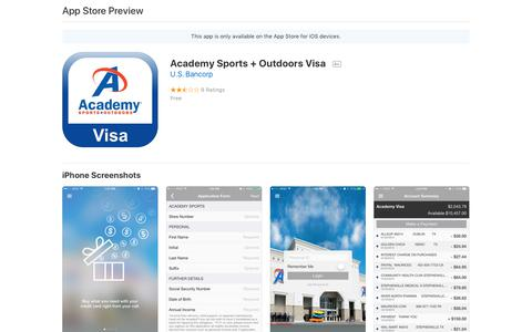 Academy Sports + Outdoors Visa on the AppStore