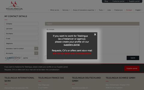 Screenshot of Contact Page telelingua.com - Contact - Telelingua - captured Oct. 18, 2018