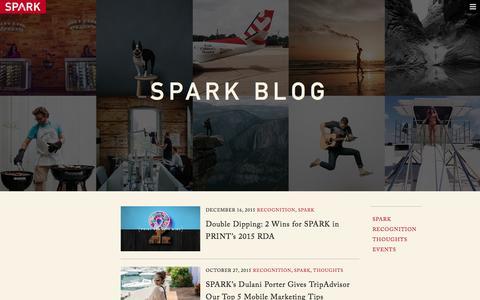Screenshot of Blog spark.us - SPARK Blog - captured Dec. 19, 2015