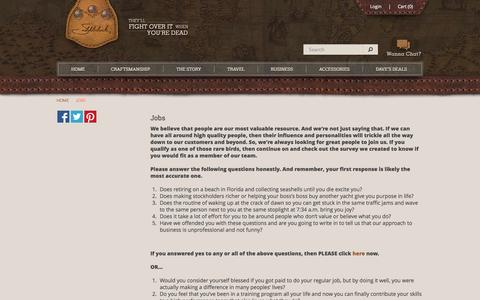 Screenshot of Jobs Page saddlebackleather.com - Jobs - captured Sept. 19, 2014