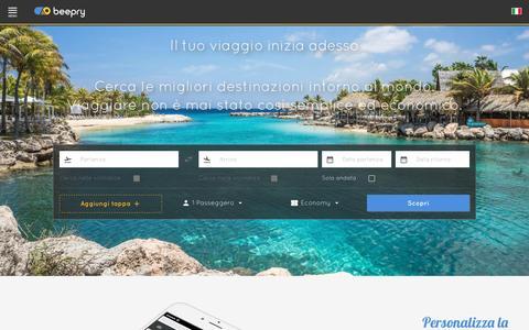 Screenshot of Home Page beepry.it - Cerca biglietti economici per treni, bus e voli | Beepry - captured Dec. 2, 2016