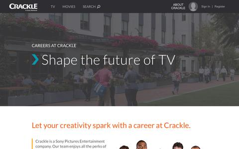 Screenshot of Jobs Page crackle.com - Crackle Careers - captured Aug. 13, 2017