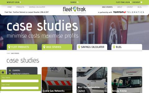 Screenshot of Case Studies Page fleet-trak.co.uk - Case Studies Archive - Fleet Trak - captured Aug. 16, 2018