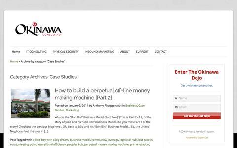 Screenshot of Case Studies Page okinawaconsulting.com captured Sept. 24, 2015