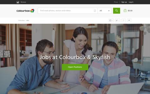 Screenshot of Jobs Page colourbox.com - Jobs - Colourbox - captured May 5, 2016
