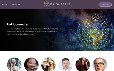 Screenshot of Services Page brightstarevents.net - Overview - Services - BrightStar Live Events - captured May 24, 2019