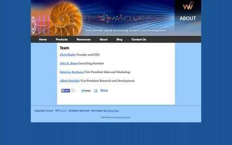 Screenshot of Team Page wivllc.com - Team | WIV LLC - captured Oct. 26, 2014