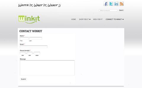 Screenshot of FAQ Page winkitnow.com - Winkit - Watch It, Want It, Winkit - Contact Winkit - captured Feb. 14, 2016