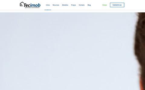 Screenshot of Home Page tecimob.com.br - Site para Corretor de Imóveis e Imobiliária por R$ 31,99 - Tecimob - captured Sept. 30, 2014