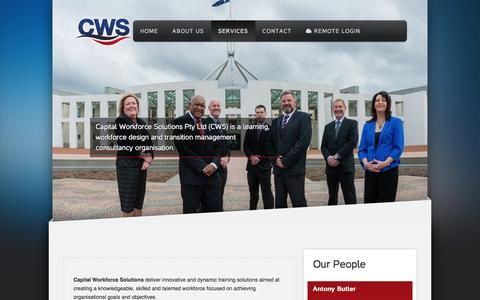 Screenshot of Services Page cws.com.au - Services - captured Oct. 20, 2016
