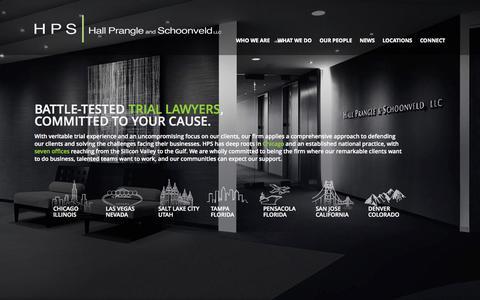 Screenshot of Home Page hpslaw.com - Hall Prangle and Schoonveld |  Homepage - captured Oct. 1, 2014