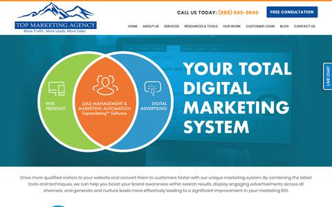 Screenshot of Products Page Services Page topmarketingagency.com - Internet Marketing Services - Search Engine Optimization, Website Design & Internet Marketing | Top Marketing Agency - captured Nov. 7, 2018