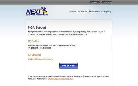 Screenshot of Support Page nextgenassessments.com - Technology Inventory Scorecard «  NGA - captured Feb. 14, 2016