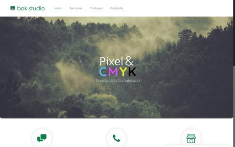 Screenshot of Home Page bokstudio.com - Bok Studio   Empresa de Diseño Gráfico y Web - captured Aug. 2, 2018