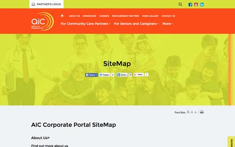 Screenshot of Site Map Page aic.sg - SiteMap - captured Aug. 24, 2016