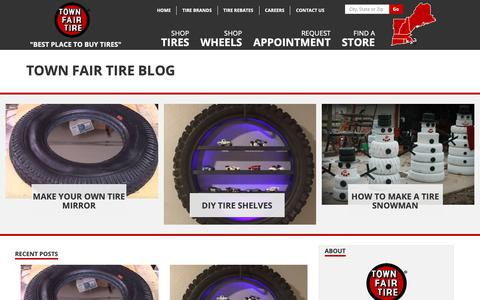 Screenshot of Blog townfairtire.com - Town Fair Tire - Blog Home Page - captured March 22, 2019