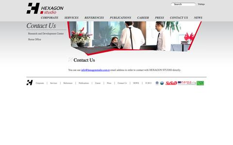 Screenshot of Contact Page hexagonstudio.com.tr - Contact Us - Contact Us - captured Oct. 6, 2014