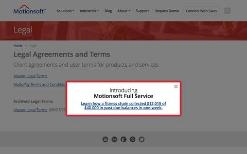 Screenshot of Terms Page motionsoft.net - General Terms and Conditions - Motionsoft - captured Feb. 21, 2016