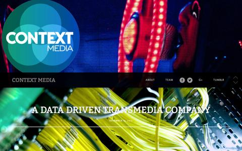 Screenshot of Home Page contextmedia.tv - context media | - captured Oct. 2, 2014