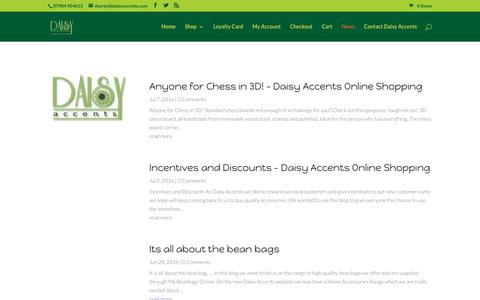 Screenshot of Press Page daisyaccents.com - news - Daisy Accents Online Shopping - captured July 8, 2016