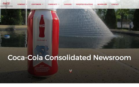 Screenshot of Press Page cokeconsolidated.com - News and Press Releases   Coca-Cola Consolidated - captured Aug. 10, 2017