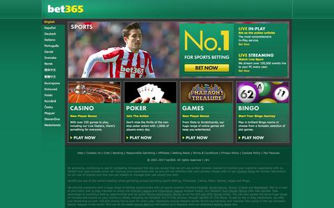 Screenshot of Contact Page bet365.com - bet365 - Sports Betting, Premier League and Champions League Football Odds, plus ATP and WTA Tennis Prices, Casino, Poker, Games, Vegas, Bingo - captured Jan. 25, 2017