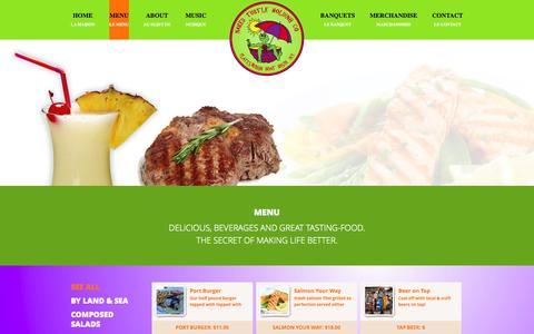 Screenshot of Menu Page nakedturtle.net - Restaurants in Plattsburgh NY   The Naked Turtle Restaurant - captured Oct. 9, 2014