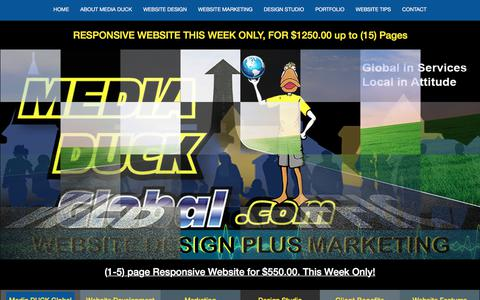 Screenshot of Contact Page mediaduckglobal.com - CONTACT - Media DUCK Global - captured June 10, 2017