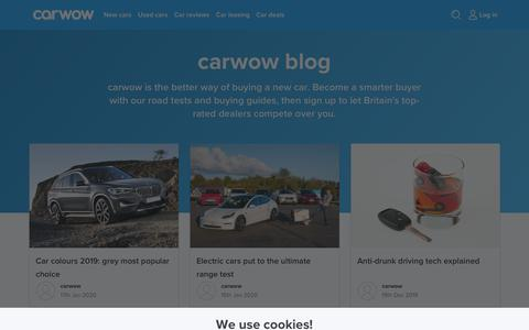 Screenshot of Blog carwow.co.uk - Car blog - buying guides and road tests | carwow - captured Jan. 18, 2020