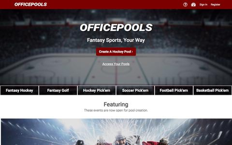 Screenshot of Home Page officepools.com - Officepools Fantasy Sports - captured Oct. 7, 2017