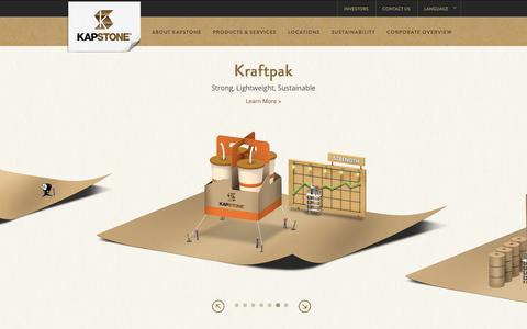 Screenshot of Home Page kapstonepaper.com - KapStone Paper and Packaging | Corrugated Packaging & Kraft Paper - captured Oct. 14, 2018
