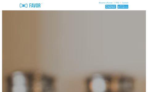 Screenshot of Home Page favordelivery.com - Favor Delivery - Anything Delivered - captured Sept. 24, 2014