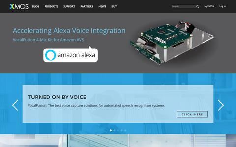 Screenshot of Home Page xmos.com - Voice & Audio Interfaces | XMOS - captured Oct. 17, 2017