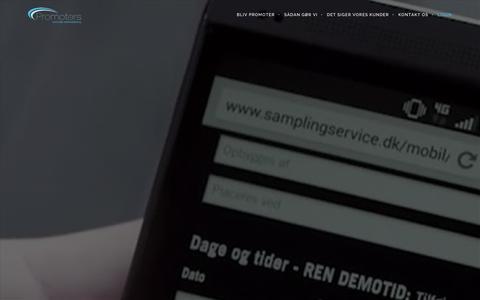 Screenshot of Login Page promoters.dk - Login - kampagneoverblik og booking hos Promoters - captured Dec. 12, 2015