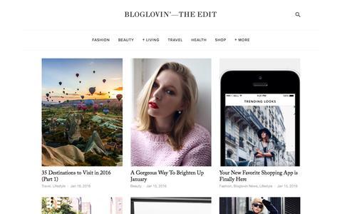 Screenshot of Blog bloglovin.com - Bloglovin'—the Edit - captured Jan. 16, 2016
