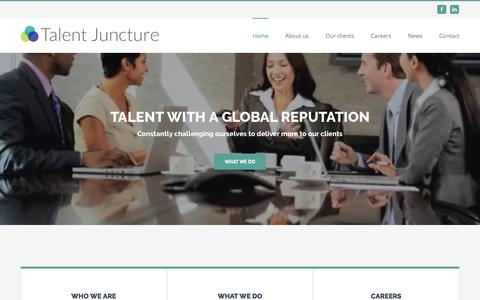 Screenshot of Home Page talentjuncture.com - Talent Juncture – Recruitment & HR Services - captured Aug. 15, 2016
