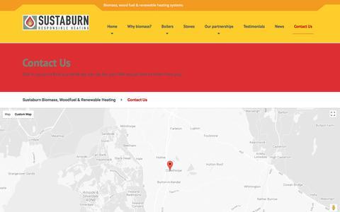 Screenshot of Contact Page sustaburn.co.uk - Contact Us | Sustaburn - captured Nov. 10, 2017