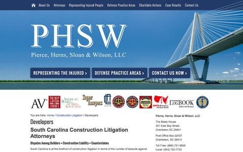 Screenshot of Developers Page phswlaw.com - Developers - captured Oct. 2, 2014
