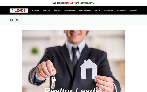 Screenshot of Home Page 1leads.com - 1 Leads  The #1 Leads Company - captured Oct. 18, 2017