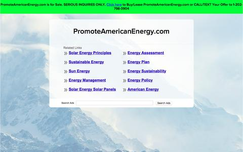 Screenshot of Home Page promoteamericanenergy.com - PromoteAmericanEnergy.com - captured Sept. 12, 2017