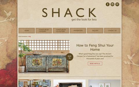 Screenshot of Blog shack.com.au - Blog - captured Oct. 18, 2018