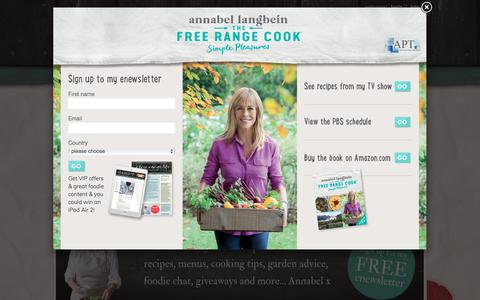 Screenshot of Home Page annabel-langbein.com - Annabel Langbein – Official website of The Free Range Cook – Cooking TV series - captured Sept. 23, 2018