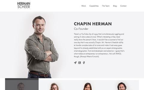 Screenshot of Team Page herman-scheer.com - Herman-Scheer - Branding & Marketing Agency in Santa Monica - captured Aug. 22, 2016